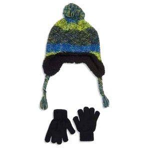 Capelli Beanie/Gloves Set Navy S/M Ages 4-6
